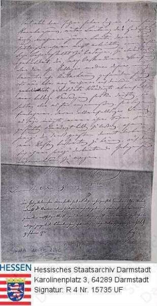 Büchner, Ernst Karl, Dr. med. (1786-1861) / Antrag auf offizielle Genehmigung des im Darmstädter Krankenhaus eingerichteten 'anatomischen Theaters'