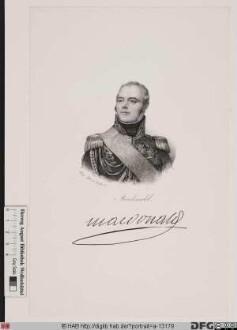 Bildnis Étienne-Jacques-Joseph-Alexandre, Macdonald (1809 duc de Tarente)