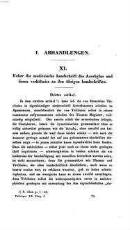 Ueber die mediceische handschrift des Aeschylus und deren abschriften. 3,1