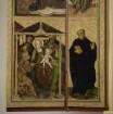Bosseroder Altar — Altarinnenflügel links - Mariä Verkündigung, Anbetung der Könige und zwei Heilige — Anbetung der Heiligen Drei Könige