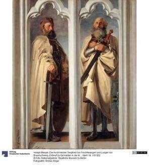 Die Hochmeister Siegfried von Feuchtwangen und Ludger von Braunschweig. Entwurf zu Gemälden in der Marienburg