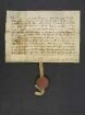 Herzog Leopold [I.] von Österreich verschreibt Johans Roerich von Uotenhein einen Zins von 4 Mark auf sein Schreiberamt zu Ensisheim (Ensichsheim) zu einem rechten Setzlehen um 40 Mark. -  - suntag ze mittren vasten