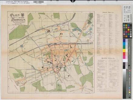 Schwelm (Schwelm) - Stadtplan - (1909) - 1 : 5000 - 53 x 56 - farb. Druck - Verlag M. Scherz, Schwelm - Bem.: Einzeichnung des Geländes des neuen Postamtes - Oberpostdirektion Dortmund Nr. 1675