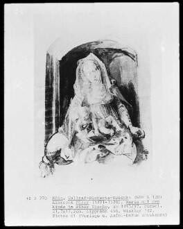 Maria mit dem Kinde in einer Nische