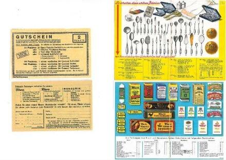 Prämienübersicht für die Einlösung von Punktegutscheinen aus Knorr- u. Mondaminpackungen