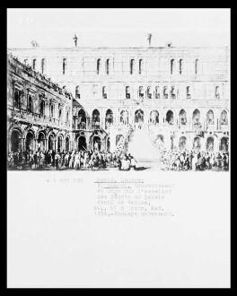 Venezianische Feste — Die Krönung des Dogen auf der Scala dei Giganti im Hof des Dogenpalastes