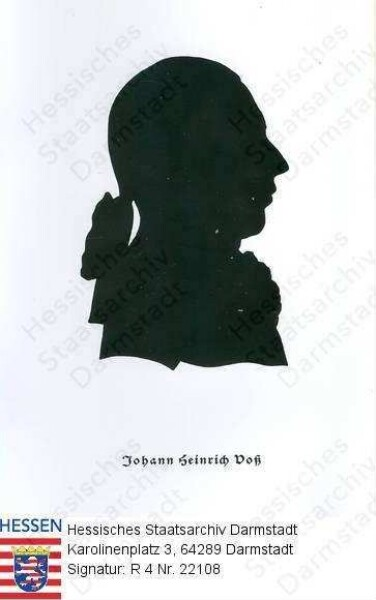 Voß, Johann Heinrich (1751-1826) / Porträt, im Profil, Brustbild, mit Bildlegende