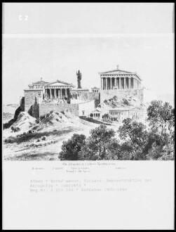 Rekonstruktion der Akropolis von Athen