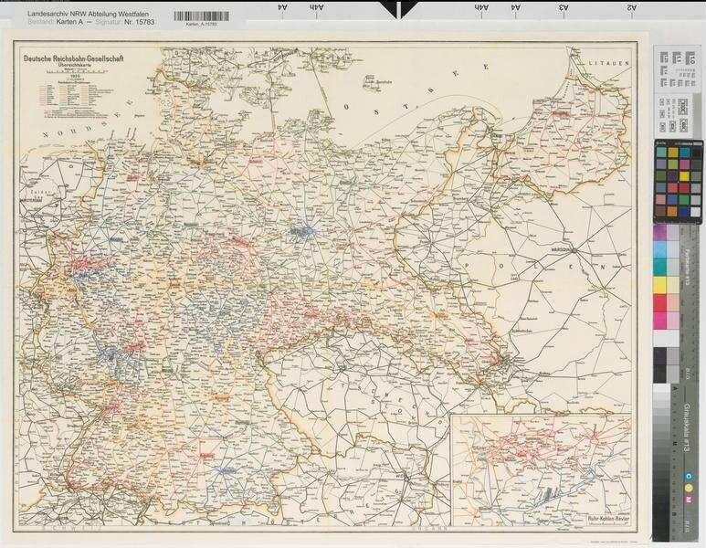 Deutschland Ubersichtskarte Der Deutschen Reichsbahn