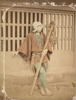 Japanischer Arbeiter mit Kopftuch