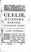 Clélie : histoire romaine. [7]. 4. partie. - 1658