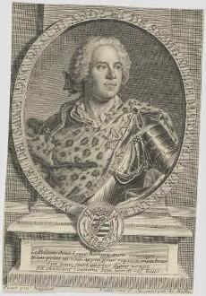Bildnis des Maurice de Saxe, Duc de Curlande et de Semigallie, Marechal de France