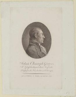 Bildnis des Johann Christoph Gatterer