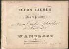 Sechs Lieder mit Begleitung des Forte Piano : op. 21