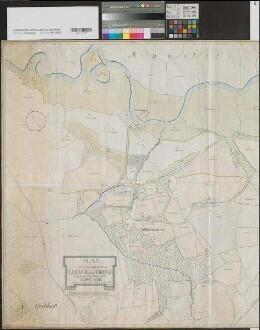 Buddenburg (Lünen) - Lageplan des Gerichts und Guts Buddenburg mit Dorf Lippholthausen - 1803 - 60 Ruten = 11,2 cm - 91 x 133 - kol. Zeichnung - Henrich Wilhelm Buchholtz - KSA Nr. 235
