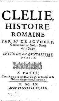 Clélie : histoire romaine. [8]. 4. partie, Suite. - 1660