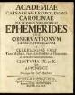 Academiae Caesareae-Leopoldino Carolinae Natvrae Cvriosorvm Ephemerides; Centuria 9/10