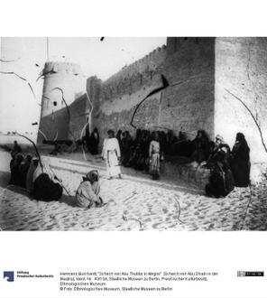 """""""Schech von Abu Thubby in Meglis"""" [Scheich von Abu Dhabi in der Madjlis]"""