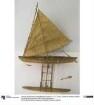 Modell eines Auslegerbootes