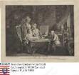 """Chodowiecki, Daniel (1726-1801) / Kupferstich """"Cabinet d' un peintre"""", gewidmet seinen Eltern Marie Henriette Chodowiecki geb. Ayrer und G[ottfried] Chodowiecki"""