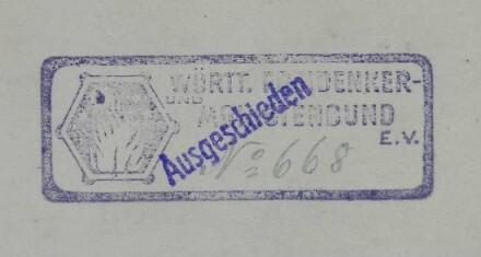 Württembergischer Freidenker- und Monistenbund / Stempel
