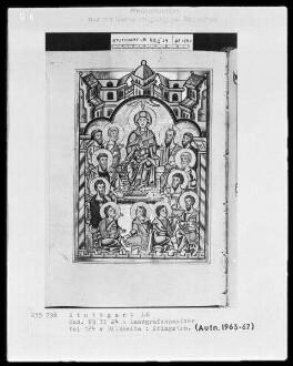 Psalterium (sogenannter Landgrafenpsalter) — Pfingsten, Folio 124verso
