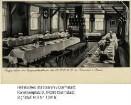 Brandau im Odenwald, Jugendlandheim der NSDAP / Speisesaal mit gedeckten Tischen, Interieur