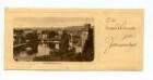 Grußkarte mit Neckarbrücke und Götzenturm mit Aufsatz