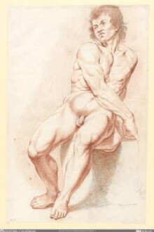 Männlicher Akt, sitzend