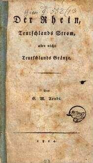 ˜Derœ Rhein, Teutschlands Strom, aber nicht Teutschlands Gränze