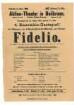 Theaterzettel des Aktien-Theaters für eine Fidelio-Aufführung (4. Ensemble-Gastspiel)
