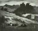 Landschaft mit Ziegen
