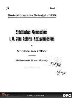 Bericht über das Schuljahr ... - 1925/26; 1925/26