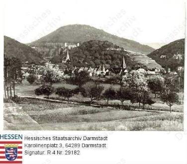 Jugenheim an der Bergstraße, Blick auf Jugenheim