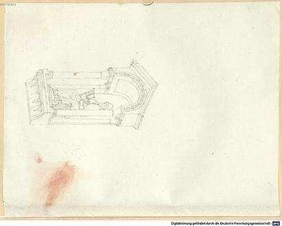 Nachlass von Leo von Klenze (1784 - 1864) - BSB Klenzeana. IX.7, Zeichnungen aus Italien, Frankreich und Deutschland - BSB Klenzeana IX.7