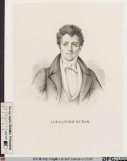 """Bildnis Alexandre Dumas (eig. Davy de La Pailleterie), gen. """"Dumas père"""""""