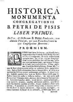 Historica monumenta Ordinis S. Hieron. Congregat. B. Petri de Pisis