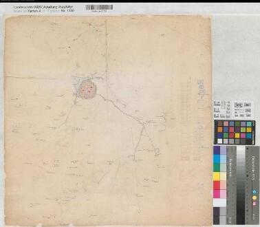 Recklinghausen (Vest) - Landvermessung - Dorsten - Entwurf - um 1811 - (1 : 10 000) - 53 x 53 - kol. Zeichnung - KSM Nr. 764,2