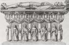Georg, Markgraf von Meißen, Seitenansicht der Grabtumba mit Liegefigur auf der Deckplatte, Tafel 46