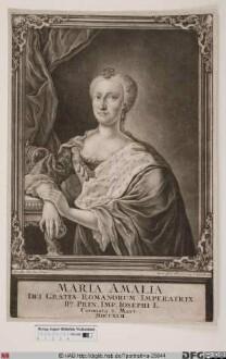 Bildnis Maria Amalia, Kurfürstin von Bayern, 1742-45 römisch-deutsche Kaiserin, geb. Erzherzogin von Österreich