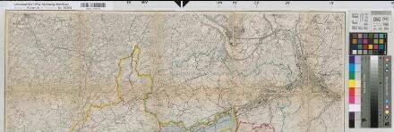 Schwelm (Schwelm) - Amtsgerichtsbezirk - 1935/36 - 1 : 25 000 - 100 x 94 - Einzeichnung in Meßtischblatt - Oberlandesgericht Hamm Nr. 5725