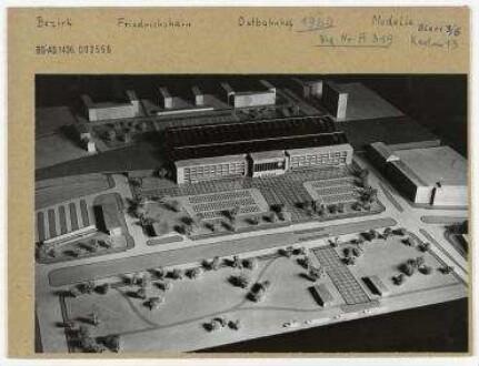 Modell: Ostbahnhof. Berlin, Friedrichshain, Koppenstraße ...