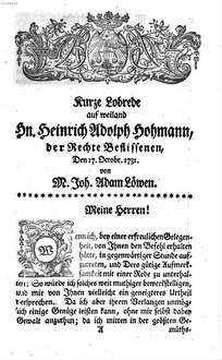 Proben der Beredsamkeit, welche in einer Gesellschaft guter Freunde, unter der Aufsicht Sr. Hochedl. Herrn Prof. Gottscheds, sind abgelegt worden