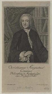 Bildnis des Christianus Augustus Crusius