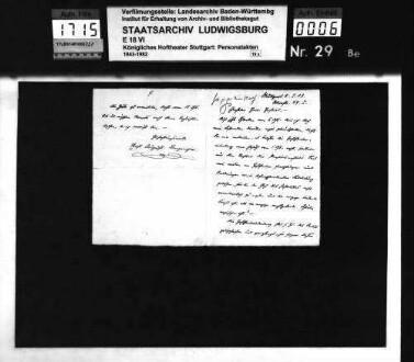 Benzinger, Ernst August (*01.03.1867 in Hannover); Hofschauspieler; ausgesch.: 1903