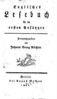 Englisches Lesebuch für die ersten Anfänger