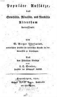 Populäre Aufsätze, das Griechische, Römische und Nordische Altenthum betreffend