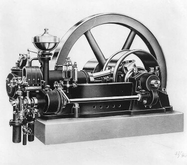 Einzylinder-Gasmotor (Körting, Hannover)