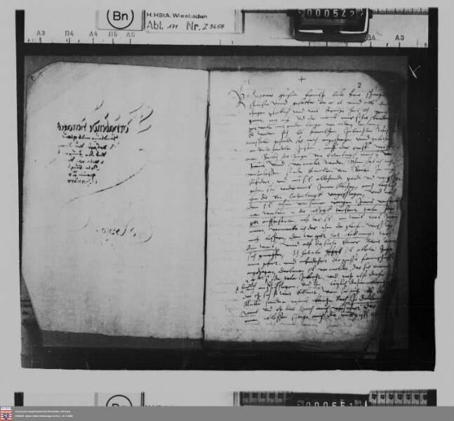 Plan der Gräfin Elisabeth von Nassau-Dillenburg einer Heirat zwischen Graf Wolf von Barby und der Witwe von Ortenburg, geb. Gräfin von Hanau