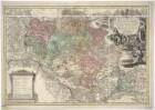 Karte vom Herzogtum Oels, 1:150 000, Kupferstich, 1739